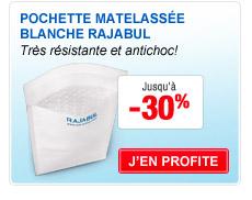 Pochette matelassée blanche Rajabul