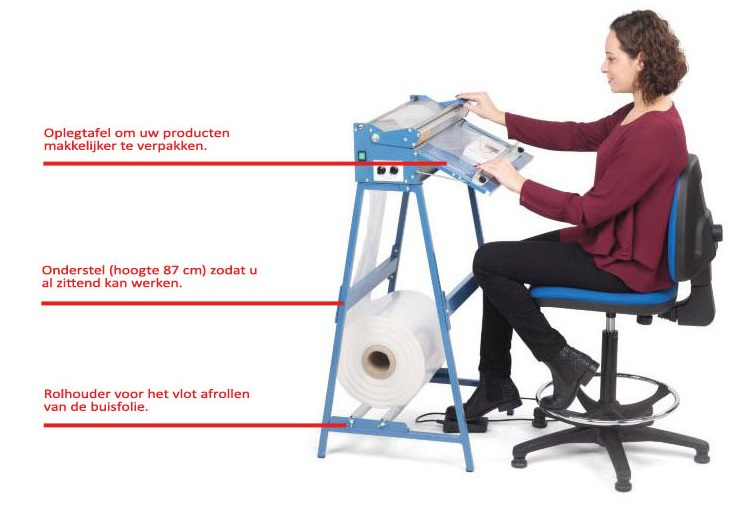 Sealmachines met ergonomische accessoires