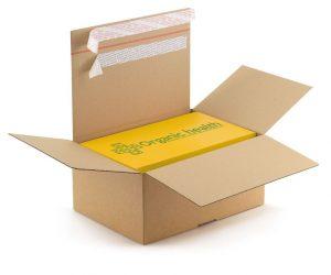 Doos met retour-sluiting zodat je klanten hun bestelling makkelijk retour kunnen sturen