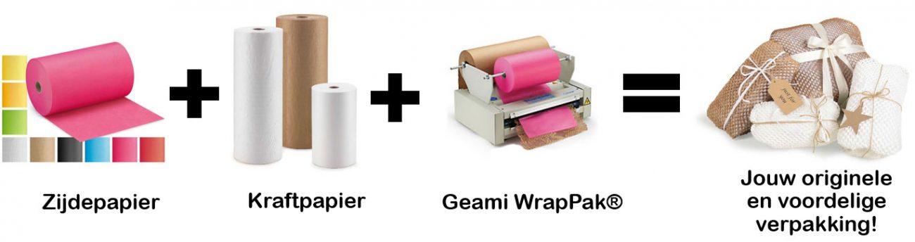 Combineer zijdepapier met kraftpapier
