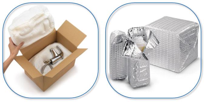 Beschermen met schuim of isothermische folie