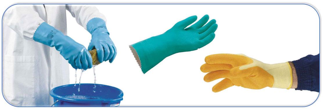 Gants de protection résistants à la chaleur de contact.