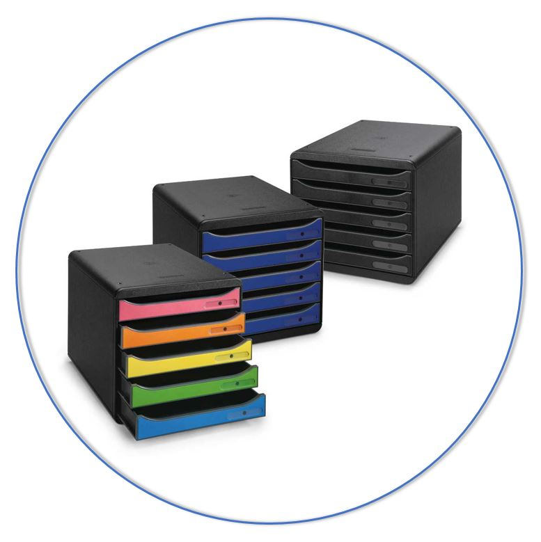Organiseer je workflow met bijvoorbeeld sorteerbakjes en ladenblokken.