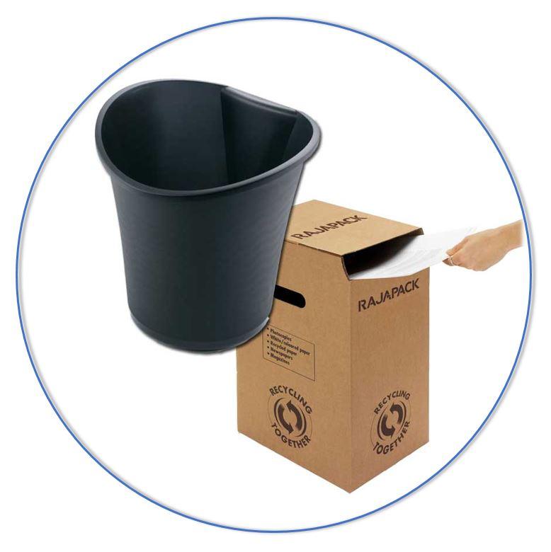 Durf weg te gooien en gebruik bijvoorbeeld vuilnisbakjes, papierbakken en papierversnipperaars.