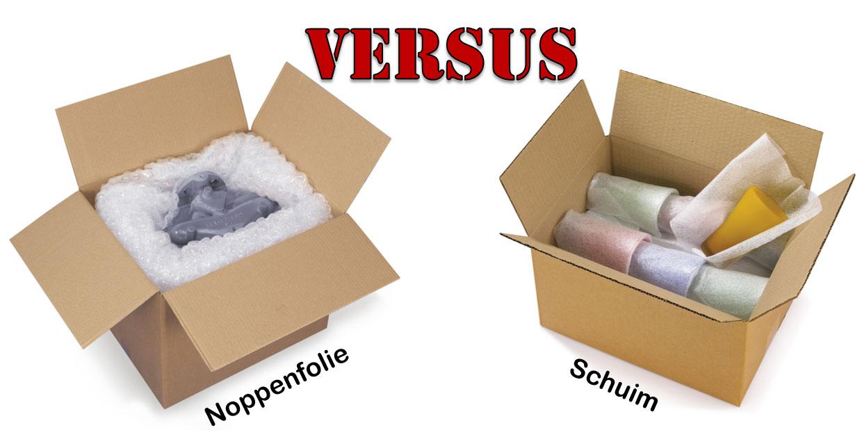 Vul met noppenfolie leegten op VS bescherm met schuim je fragielste producten.
