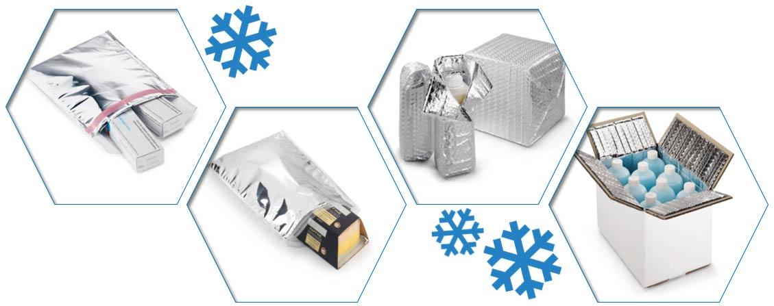 Verzend temperatuur gevoelige producten in bijvoorbeeld isothermische zakjes of noppenfolie.