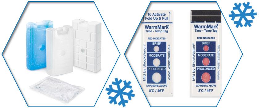 Hou je koeldozen extra fris met koelelementen. - Gebruik temperatuurindicatoren voor de beste controle.