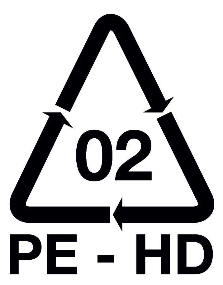Polietileno de alta densidad - Símbolo etiqueta