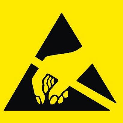 Etiqueta símbolo para embalajes y materiales antiestáticos - Símbolo etiqueta