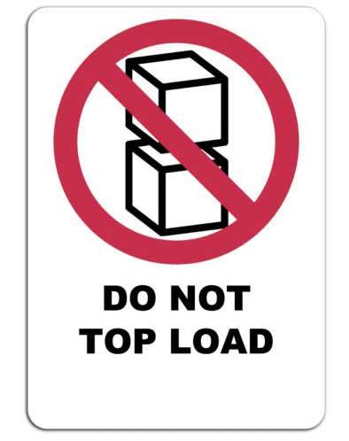 No apilar el embalaje - Símbolo etiqueta