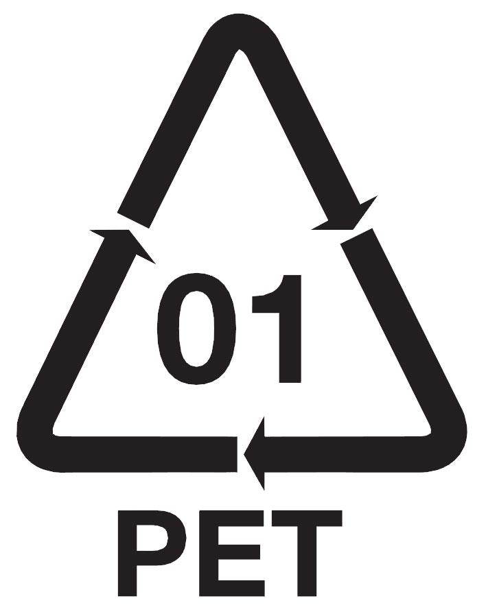 PET o tereftalato de polietileno - Símbolo etiqueta