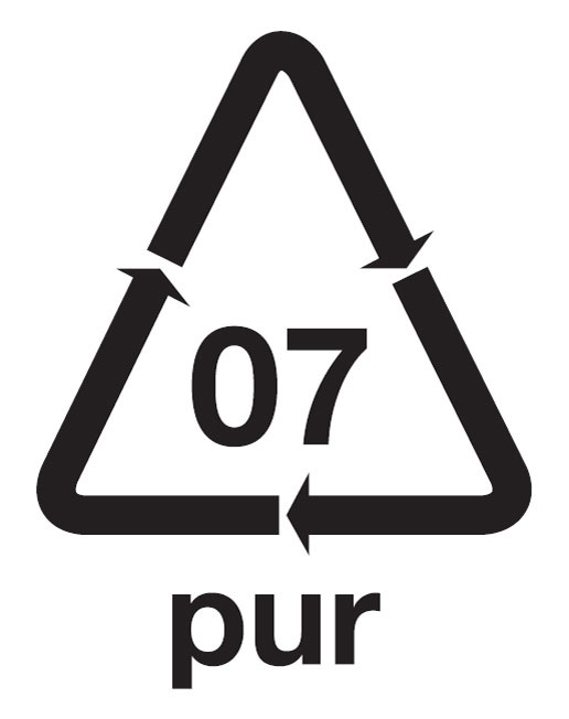 Espuma dura PUR - Símbolo etiqueta