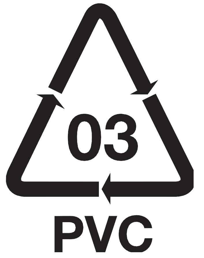 Cloruro de polivinilo de PVC - Símbolo etiqueta