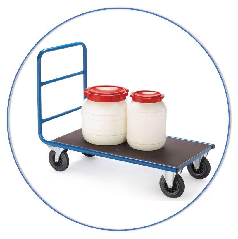 Plateauwagen voor kleine stapels heterogene goederen of losse objecten