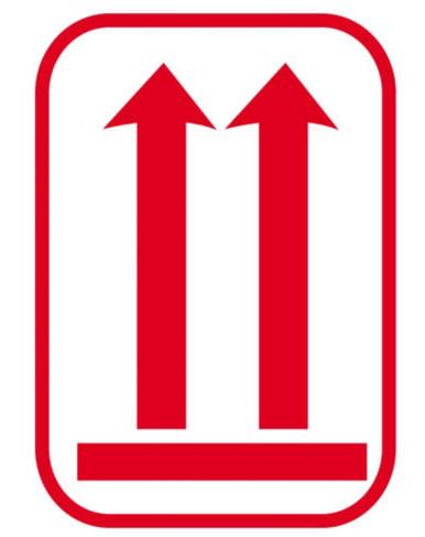 Indicador de posicionamiento del embalaje - Símbolo etiqueta