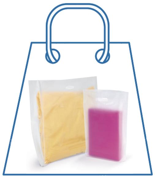 Draagtas in plastic van meer dan 50 micron