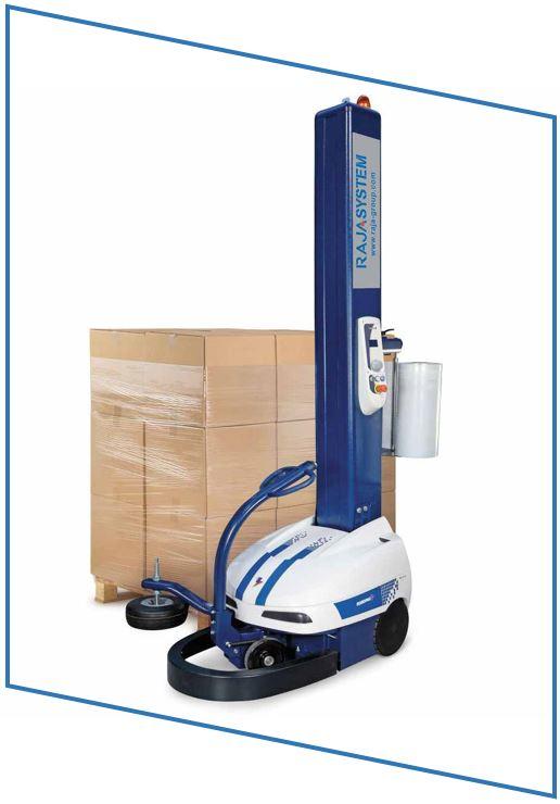 Utilisez un robot à banderoler pour un cerclage automatisé.