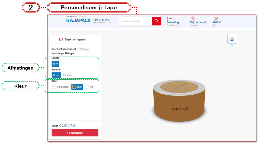 Rajaprint: personaliseer je tape.