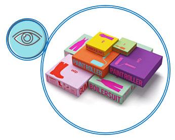 Sensorisk emballage med dit syn