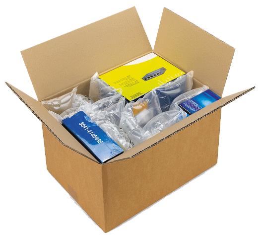 Verpak je pakjes met plastic luchtfolie