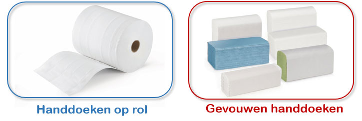 Handdoeken op rol of gevouwen handdoeken