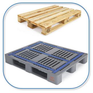 Pallets van kunststof of hout