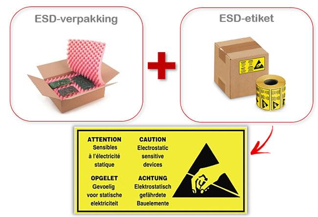 ESD etiketten voor je antistatische verzendingen