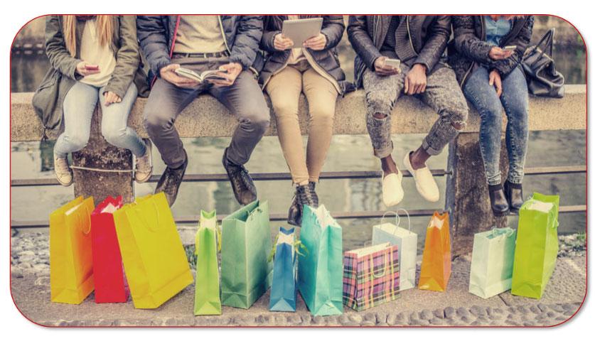 Hergebruik papieren draagtassen bij het shoppen.