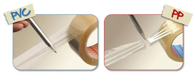 Elasticiteit tussen PVC en PP tape