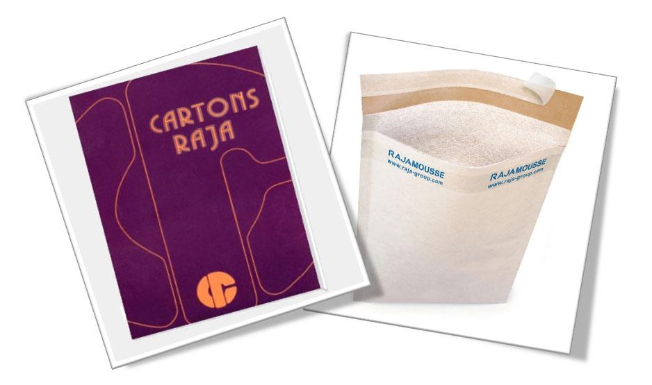 Eerste productcatalogus van Cartons RAJA - Rajamousse schuimenvelop