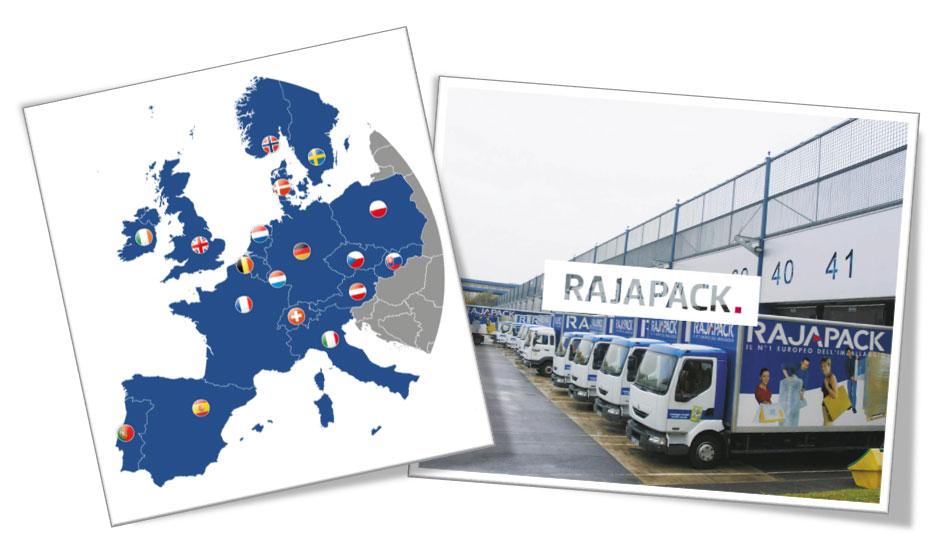 De RAJA-Groep is aanwezig in 18 Europese landen