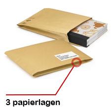 Gewatteerde papieren envelop 100% gerecycleerd van RAJA