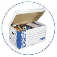 Archiveer je ongebruikte spullen en papier met bijvoorbeeld archiefdozen en opbergdozen