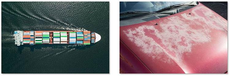 Corrosievorming bij overzees transport en 'witte roest' in de winter.