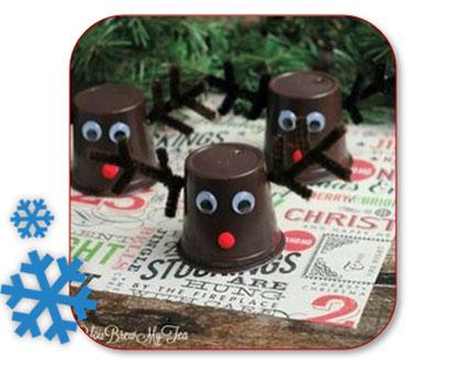 Renne de gobelets comme décoration de Noël