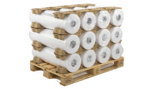 Rolstopper voor het stapelen van cilindervormige goederen