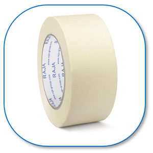 Ruban adhésif blanc en papier crêpé