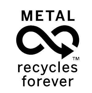 Ecologisch label voor recycleerbaar metaal