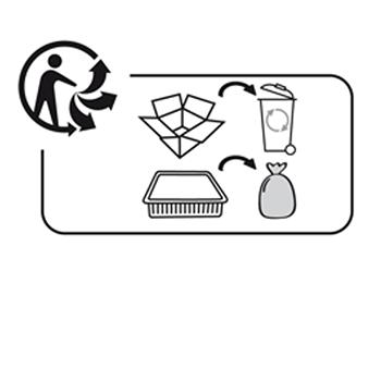 Triman logo voor recycleerbare producten