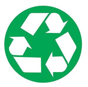 Logo voor recycleerbare verpakkingen