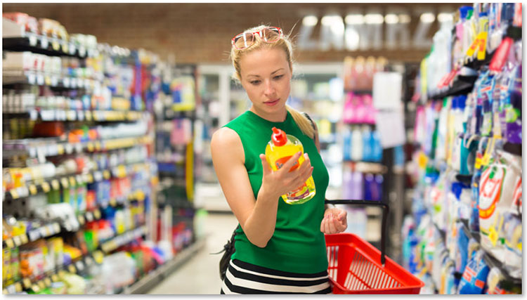 Ecologisch label op duurzame verpakkingen